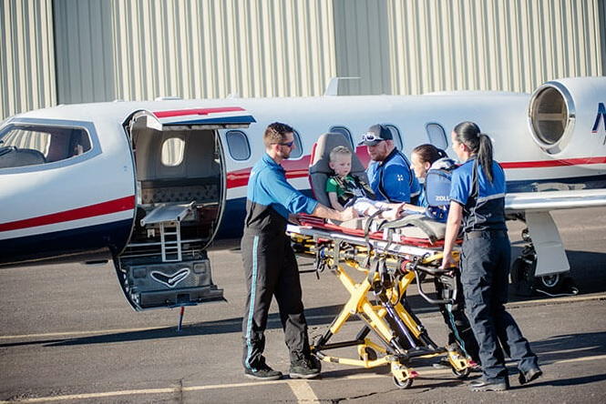 Medical aviation: transportation of pediatric patients