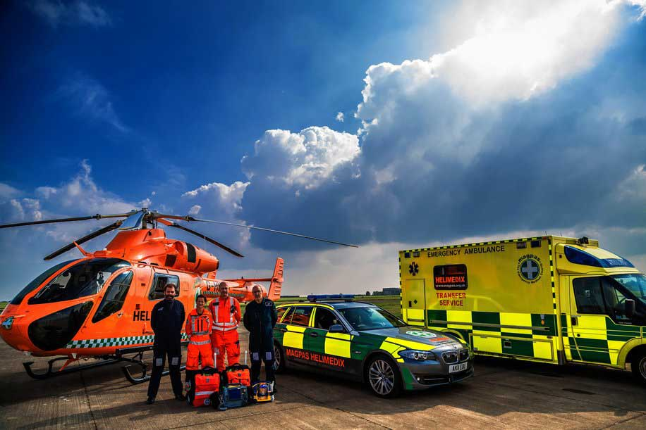 Seven-day world sim flight for air ambulance