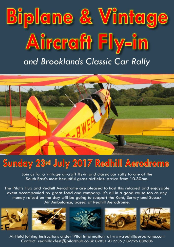 Redhill Vintage Fly-in & Brooklands Classic Car Rally