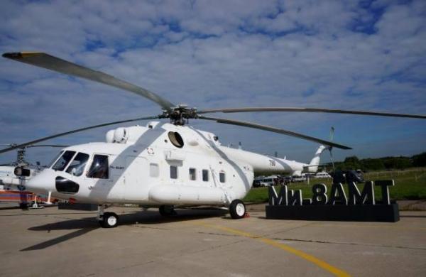{:pt}ГТЛК recebeu um grupo de quatro helicópteros Mi-8АМТ