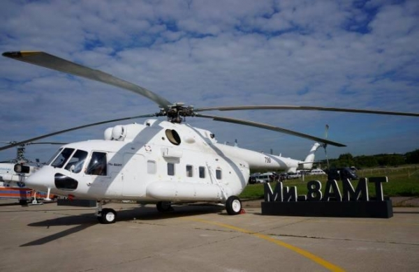 {:bg}ГТЛК получи партида от четири хеликоптери Ми-8АМТ